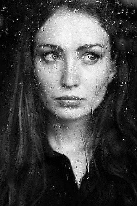 a melancholic woman