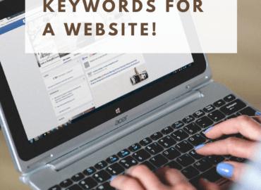 Find the best keywords for a website