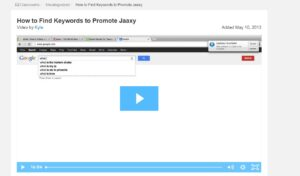 Screenshot video, explanation Jaaxy
